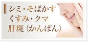 シミ・そばかす・くすみ・クマ・肝斑(かんぱん)